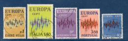 EUROPA--1972--Lot De 5 Timbres Oblitérés (Grèce,Italie,Luxembourg, Portugal Et Suisse) - 1972