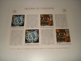 ESPAÑA - HISTORIA DE CATALUNYA - HOJA Nº 32 - EDAT MODERNA (LA VIDA POLITICA I ELS SEUS DIRIGENTS) ** MNH - Hojas Conmemorativas