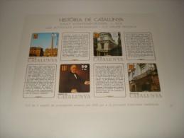 ESPAÑA - HISTORIA DE CATALUNYA - HOJA Nº 36 - EDAT CONTEMPORÀNIA (LES ACTIVITATS ECONOMIQUES I ELS GRUPS SOCIALS) ** MNH - Fogli Ricordo