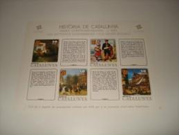 ESPAÑA - HISTORIA DE CATALUNYA - HOJA Nº 37 - EDAT CONTEMPORÀNIA (LES ACTIVITATS ECONOMIQUES I ELS GRUPS SOCIALS) ** MNH - Fogli Ricordo