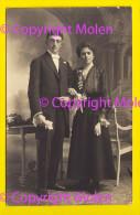 CARTE PHOTO 1918 PORTRAIT COUPLE MODE MARIAGE FOTOKAART PORTRET KOPPEL PHOTOGRAPHIE EHEPAAR ECHTPAAR BENS OOSTENDE 4387 - Noces