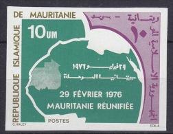Mauretanie 1976 Mauretanie Réunifiée 1v Imperforated ** Mnh (17974) - Mauritanië (1960-...)