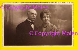 CARTE PHOTO PHOTOGRAPHIE D'ART CH LOUIS à CHENEE LIEGE PORTRAIT COUPLE MODE MARIAGE FOTOKAART BENS OOSTENDE KOPPEL 4396 - Noces
