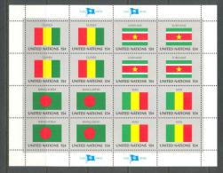 1980 UNITED NATIONS NEW YORK FLAGS MINI SHEET MICHEL: 352-355KB MNH ** - Blocchi & Foglietti