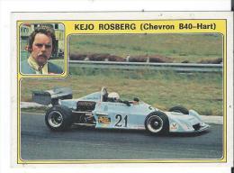 Autocollant Panini Années 70 Kejo Rosberg Chevron B40-hart - Automobile - F1