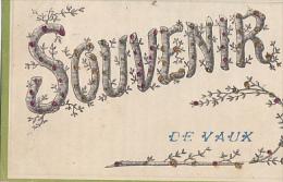 SOUVENIR DE VAUX EN BUGEY     CP A  PAILLETTES - France