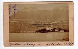 Cdv Photographie Du 74 Annecy Talloire  Chateau De Duingt - Places
