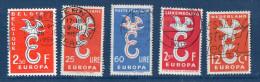 EUROPA--1958--Lot De 5 Timbres Oblitérés (Belgique,Italie(2),Luxembourg Et Pays-Bas) - 1958