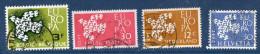 EUROPA--1961--Lot De 4 Timbres Oblitérés (Belgique,Italie, Pays-Bas Et Suisse) - Europa-CEPT