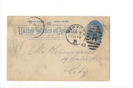 "Entier Postal Association ""Salamander"" New York 1893 - Ganzsachen"