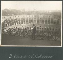 Roma 24.5.1914, Interno Del Colosseo, Fotografia Originale D'epoca Cm. 11 X 8. - Lieux