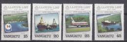 Vanuatu 1984 Lloyd's List 4v ** Mnh (17984) - Vanuatu (1980-...)