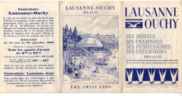 Lausanne 1930, Publicité, Dépliant 6 Volets - Dépliants Touristiques
