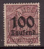 Deutsches Reich Dienstmarke , 1923 , Mi.Nr. 92 O / Used - Dienstpost