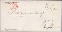 Heimat LU LUZERN 1847-10-02 Rot Vorphila Brief Ohne Inhalt - Schweiz