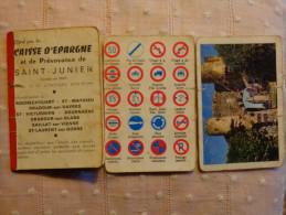 Calendrier 1963+signalisation Routiere Etc..--... Caisse D´epargne St Junien -chateau A Identifier - Calendars