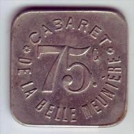 Monnaie De Nécessité - 75 - Paris - Cabaret De La Belle Meunière - 75c - - Monetari / Di Necessità