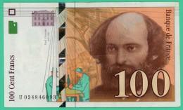 France - 100 Francs - Cézanne - N° U 034846093 -  1997 - Sup - 1992-2000 Dernière Gamme