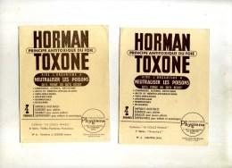 - LOT DE 3 PUB. PHARMACIE SUR CARTES  PHOTOS YVON . HORMANTOXONE  . - Pubblicitari