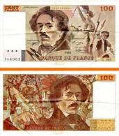 Billet 100 Francs Delacroix 1991, Série G. 195 - 1962-1997 ''Francs''