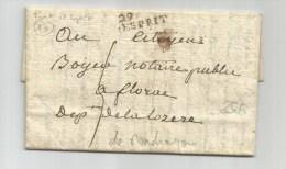 AN 3 - LETTRE écrite à MONDRAGON Avec MARQUE De PONT SAINT ESPRIT (GARD) - 1701-1800: Precursors XVIII