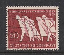 GERMANIA OCCIDENTALE 1955 ESODO DALL'EST UNIF. 91 USATO VF - [7] Repubblica Federale