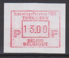 """Belgique N° ATM71 *** 13.00 F """"Kroningsfeesten 88 - Tongeren"""" - 1988 - Postage Labels"""