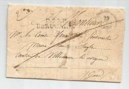 1830 - LETTRE PRE IMPRIMEE En PORT PAYE De La MAIRIE De BEAUCAIRE (GARD) - Postmark Collection (Covers)