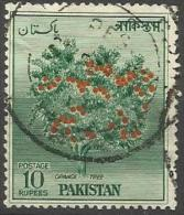 PAKISTAN- 1957 Orange Tree 10r Used  SG 89  Sc 78 - Pakistan