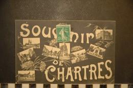 CP, 28, CHARTRES Souvenir De Chartres Multivues - Chartres