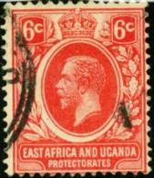 GRAN BRETAGNA, COLONIE E TERRITORI IN AFRICA, EAST AFRICA, UGANDA, 1912-1918, FRANCOBOLLO USATO, Scott 42 - Kenya, Uganda & Tanganyika
