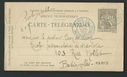 AY32 - Carte  Télégramme- 30ct  Noir - - Pneumatici