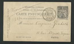 AY36 - Carte  Télégramme- 30ct  Noir - Date 921 - Pneumatici