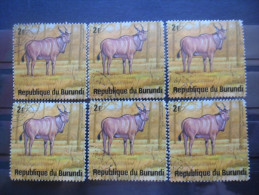 BURUNDI N°650 X 6 Oblitéré - Burundi