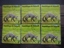 BURUNDI N°655 X 6 Oblitéré - Burundi