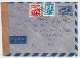 Österreich, 1949, Luftpost-Brief Nach USA  , S424 - 1945-60 Briefe U. Dokumente
