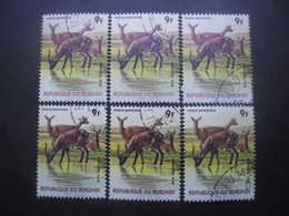 BURUNDI Poste Aérienne N°445 X 6 Oblitéré - Burundi