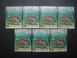 BURUNDI Poste Aérienne N°451 X 7 Oblitéré - Burundi