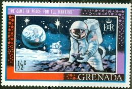 GRENADA, COMMEMORATIVO, APOLLO 11, 1969, FRANCOBOLLO USATO, Scott 328 - Grenada (...-1974)