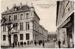 Saint Marcellin - L'hôtel De Ville Et Les Halles ( édition Convert ) - Saint-Marcellin