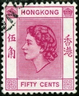 HONG KONG, COMMEMORATIVO, REGINA ELISABETTA II, 1954, FRANCOBOLLO USATO, Scott 192 - Usati