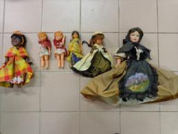 Lot De 6 Poupees Anciennes.-. - Dolls