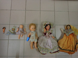 Lot De 6 Poupees Anciennes.-.- - Dolls