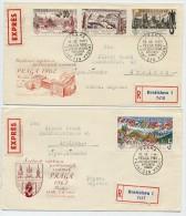 CZECHOSLOVAKIA 1961 PRAGA ´62  III Set Of 4  On 2 FDCs.  Michel 1311-14 - FDC