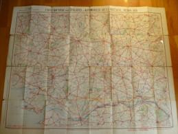 CARTE TARIDE N°9 Pour Cyclistes Et Automobilistes De La Bretagne Sud . Format 90x70. - Cartes Routières