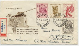 CZECHOSLOVAKIA 1952 Army Day Set Of 4 On  FDC.  Michel 761-64 - FDC