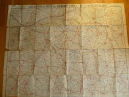 CARTE TARIDE  Pour Cyclistes Et Automobilistes Centre  Section Ouest. Format 90x70. - Cartes Routières
