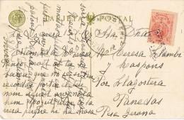 10844. Postal LA NOGUERA (Gerona) 1911.  Marca Cartería De VILADRAU Especial - 1889-1931 Royaume: Alphonse XIII