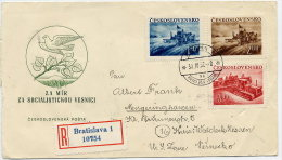 CZECHOSLOVAKIA 1952 Agriculture Set Of 3 On  FDC.  Michel 724-26 - FDC