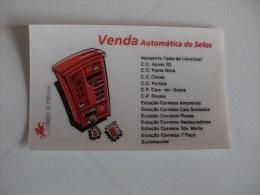 Post Office Bereau De Poste Correios Portugal Portuguese Pocket Calendar 1991 - Calendriers
